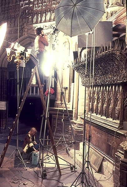 Westminster Abbey interior photoshoot